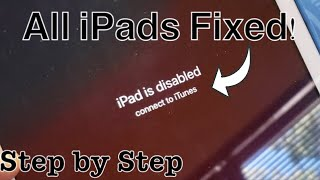 iPad is Disabled Connect to iTunes? - 5 Ways to Unlock iPad... without Passcode