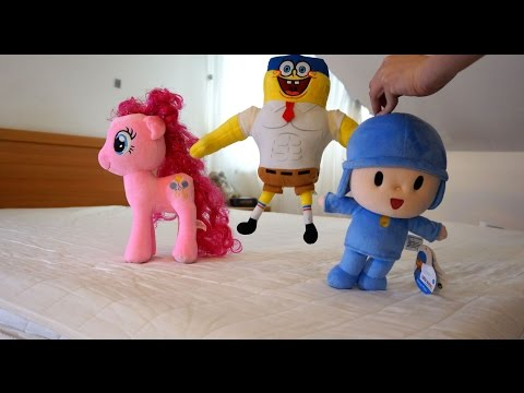 TOP Five Little Pocoyo, Mickey Mouse, SpongeBob, Olaf, MLP Jumping On The Bed