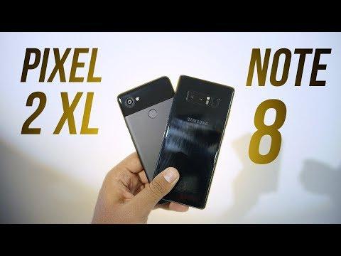 Pixel 2 XL vs Galaxy Note 8 - Hands on Comparison!