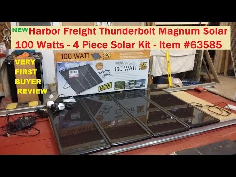 Harbor Freight 100 watt solar kit #63585 NEW Thunderbolt Magnum (SEE INFO BELOW)