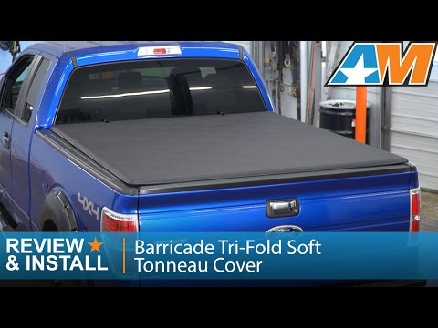 2004 2014 F 150 Barricade Tri Fold Soft Tonneau Cover W 6 5 Bed Review Install Youtube