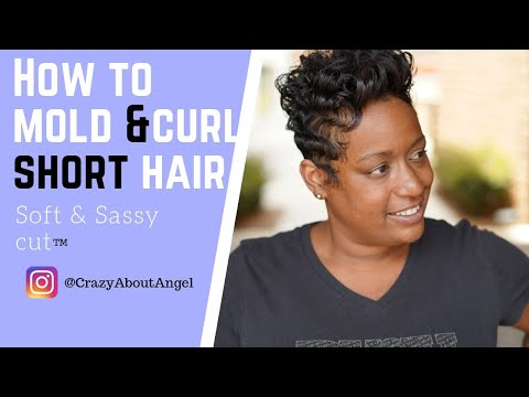 Easy way to curl short hair|How to wave and curl short hair|@CRAZYABOUTANGEL