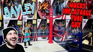 Bayley vs Wacky Inflatable Tube Man | Funny WWE Action Figure Fun - WDW