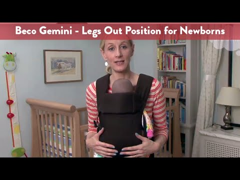 f06d56cffb6 Carrying your Newborn Infant in the Beco Gemini Baby Carrier – Legs ...