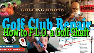 How to FLO a Golf Shaft (correct position of shaft alignment)