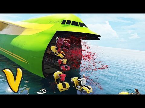 GTA 5 FAILS CARGO PLANE & BLAZER AQUA STUNTS!! :: GTA 5 Funny Moments Compilation