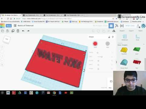Introduction to computer aided design (CAD) using TINKERCAD