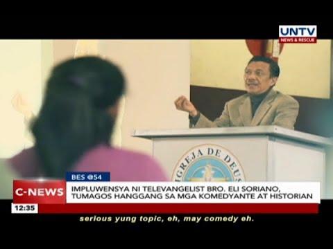 Impluwensya ni televangelist Bro. Eli Soriano, tumagos hanggang sa mga komedyante at historian