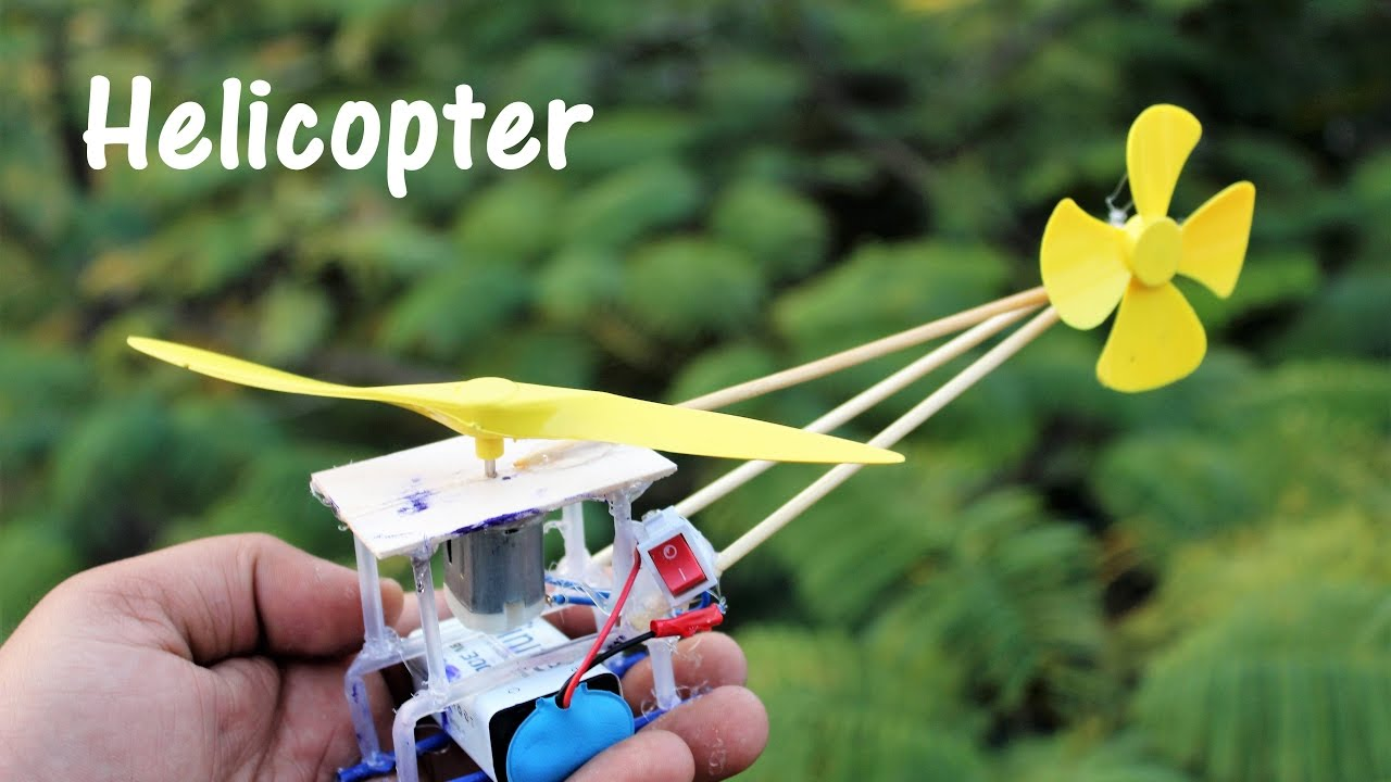 How To Build A Toy Helicopter At Home