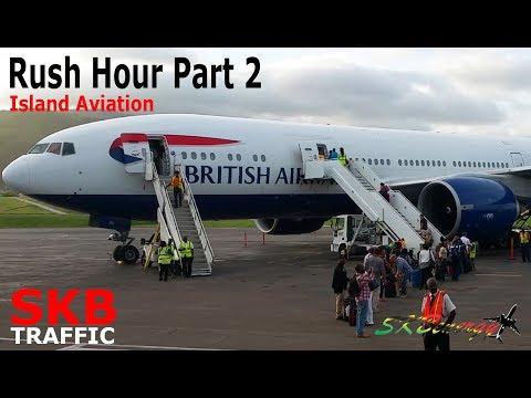 Rush Hour Traffic Part 2 - BA 777-200, Lynden L-100, Pilatus PC-12..@ St. Kitts Airport (Multi View)