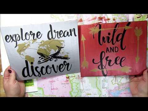 Easy Dollar Tree DIY Wall Sticker Canvas