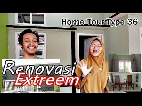 home tour rumah type 36 | full renovasi extreme - youtube