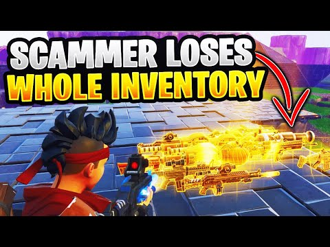 Fortnite Scammer Gets Scammed For All His Guns! In Save The World