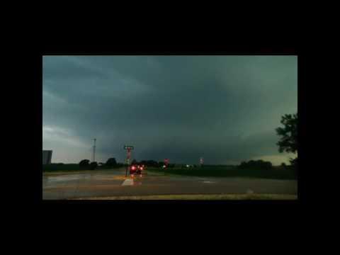 6-22-2016 Lightning Strikes Radio Tower Troy Grove IL