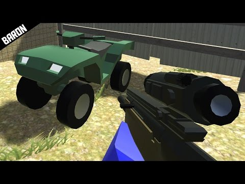 Ravenfield NEW Weapons & Vehicles, Quad and Semi Auto Sniper - Ravenfield Beta 5 Gameplay