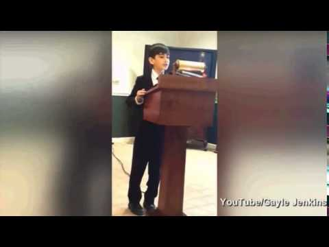 young boy gives powerful eulogy at grandfathers funeral