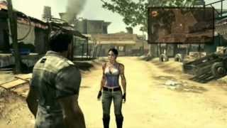 001 Resident Evil 5 Walkthrough PS3 - Chapter 1-1 Civilian Checkpoint Part 1 - Veteran Difficulty