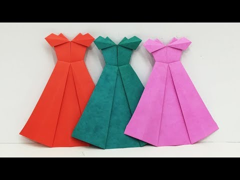 How to Make Origami Dress   Easy Paper Frocks Designs By Origami Art & Crafts