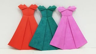 How to Make Origami Dress | Easy Paper Frocks Designs By Origami Art & Crafts