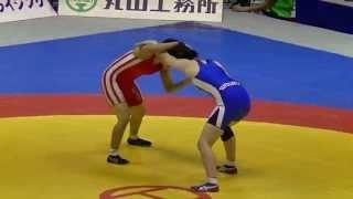 歌田圭純(東洋大)4-2で佐藤喜歌(自衛隊)に勝利 女子63kg級 二回戦 20130616