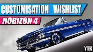 Forza Horizon 4 Customisation Wishlist