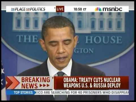 Obama Annouces Nuclear Arms Reduction Treaty