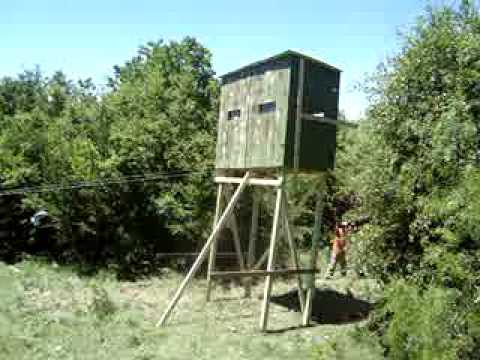 Second Attempt At Lifting Our Deer Blind Youtube