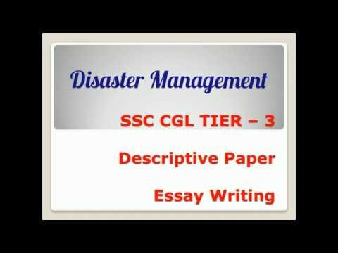 Disaster Management  Essay For Ssc Chsl Tier  Descriptive Paper  Disaster Management  Essay For Ssc Chsl Tier  Descriptive Paper