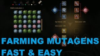 Witcher 3 mutagens - 5 red, green or blue per minute