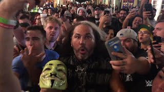 Matt Hardy leads a Woken parade on Bourbon Street