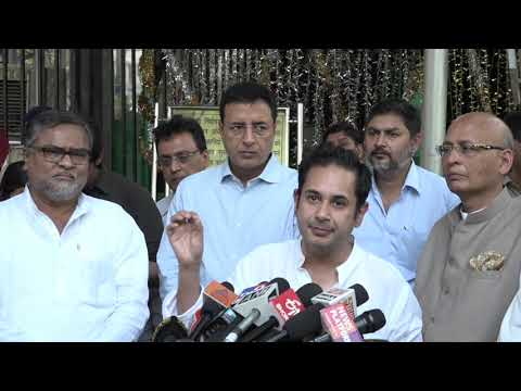 Abhishek Manu Singhvi and Randeep Singh Surjewala addresses media after meeting with EC