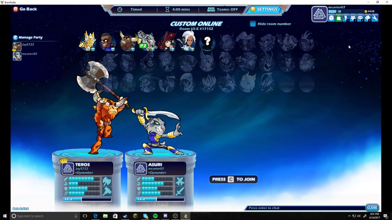 THIS IS A WAY TO EARN EASY CASH AND XP ON BRAWLHALLA!!!!!!