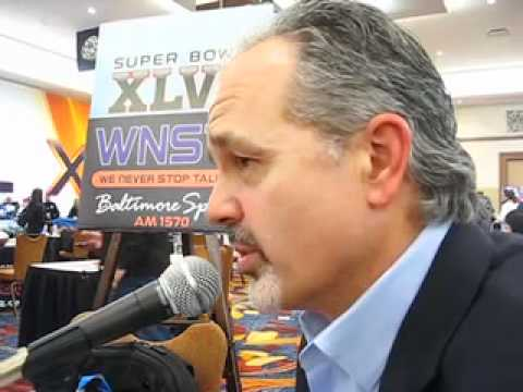 New Colts coach Chuck Pagano meets Mayor of Indy on WNST set