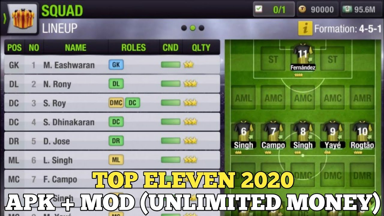 Top Eleven 2020 Apk Mod Unlimited Money How To Download Youtube