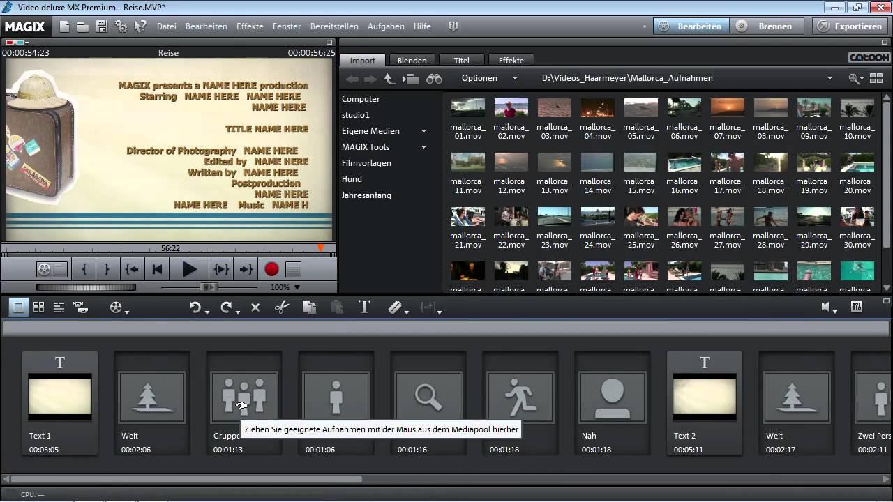 Filmvorlagen nutzen - MAGIX Video deluxe MX - YouTube