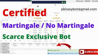 Certified Binary.com Bot - Low-Risk Binary Bot   Scarce Exclusive Non-Martingale Bot Live Now