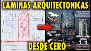 Como hacer LAMINAS para Arquitectura desde cero