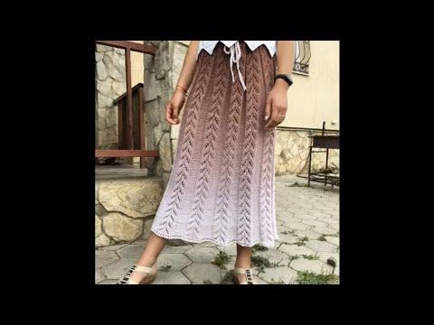 Юбка вязаная спицами юбка для начинающих