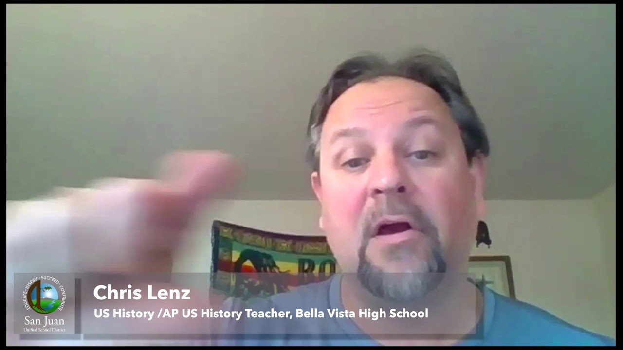 San Juan USD: Distance Learning Shout-out – Chris Lenz