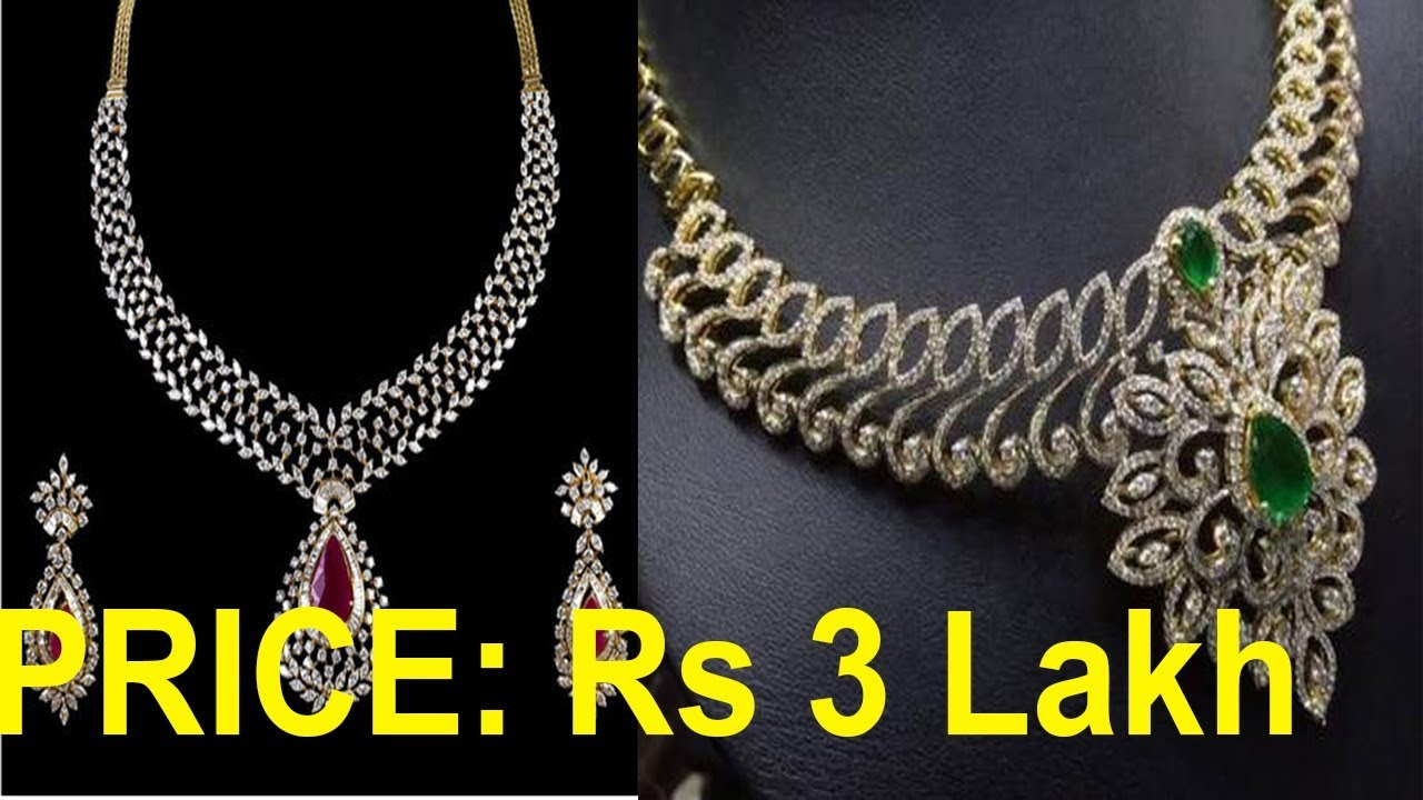 Top 5 Diamond Necklace With Price Beautiful Diamond Necklace Tanishq Red Carpet Collection Youtube