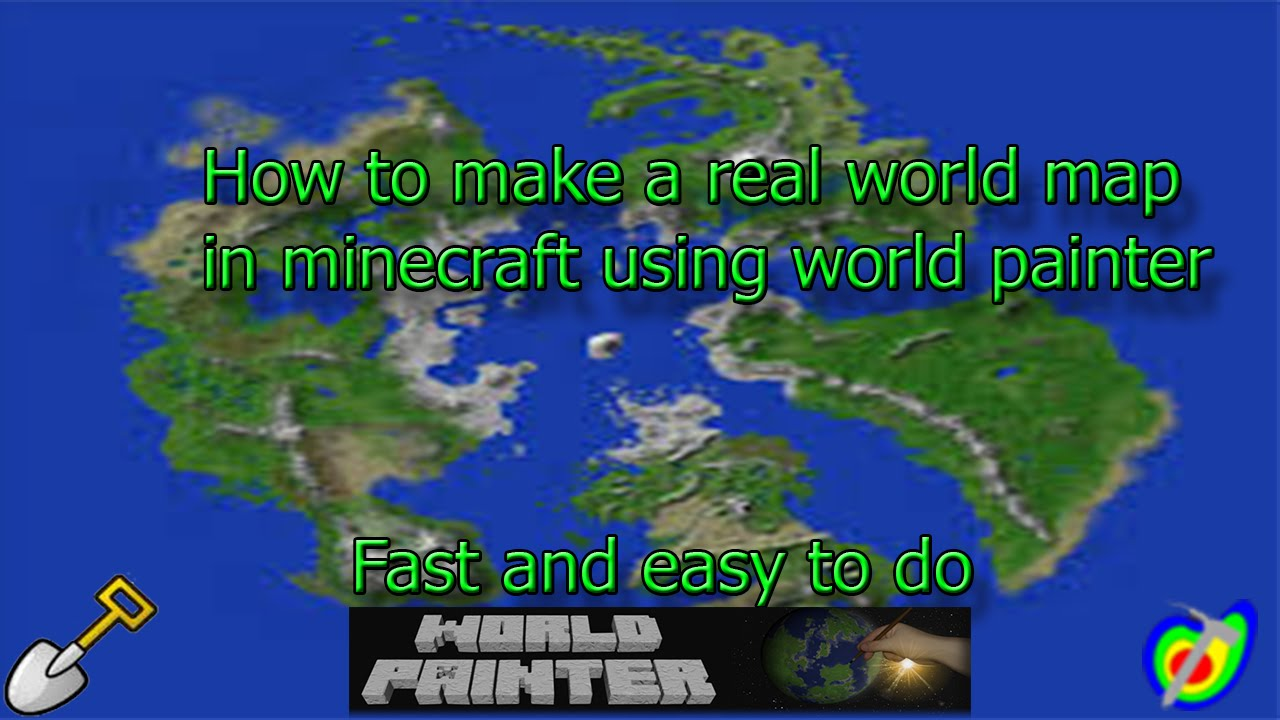 How to make a real world minecraft map
