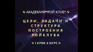 """⚡️Академия """"РОЙ Клуб""""⚡️  Цели, задачи и структура построения РойКлуба  ⚡️1 урок 3 курс⚡️"""