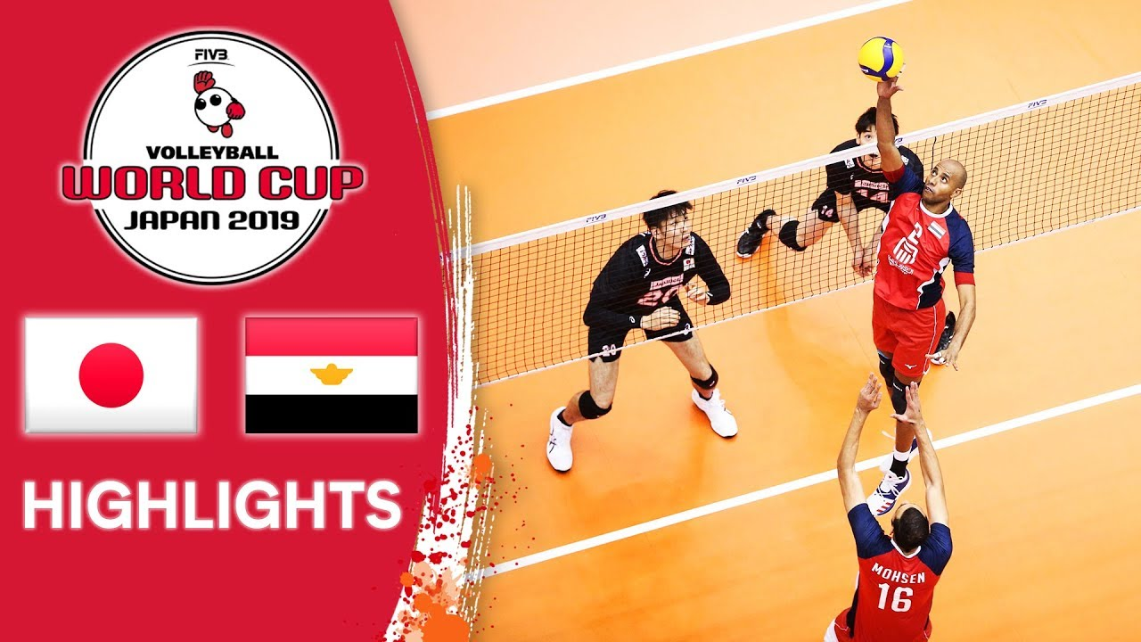 Japan Vs Egypt Highlights Men S Volleyball World Cup 2019 Youtube