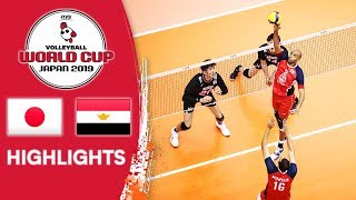 JAPAN vs. EGYPT - Highlights   Men's Volleyball World Cup 2019