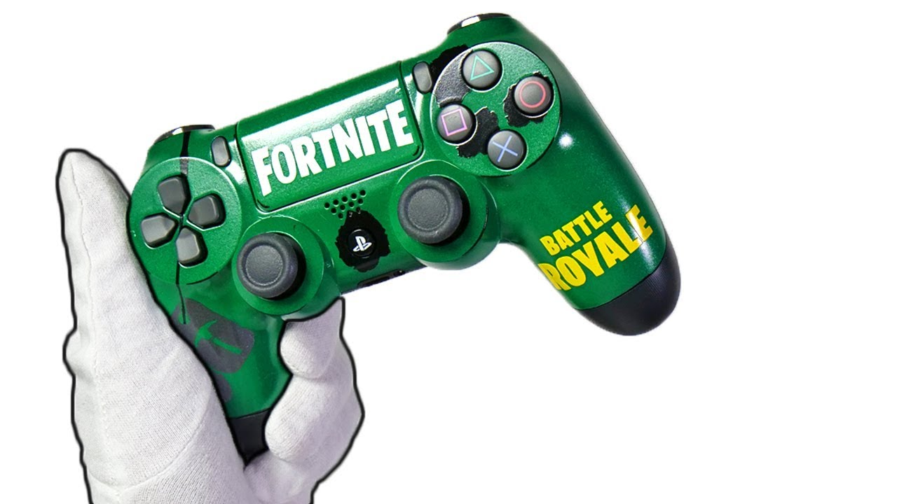 Fortnite Ps4 Controller Unboxing Fortnite Battle Royale Custom Gamepad Solo Victory Gameplay