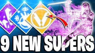Destiny 2 Forsaken - 9 NEW SUPERS! - Shadowmark, Death From Above, Fire Blades & More!
