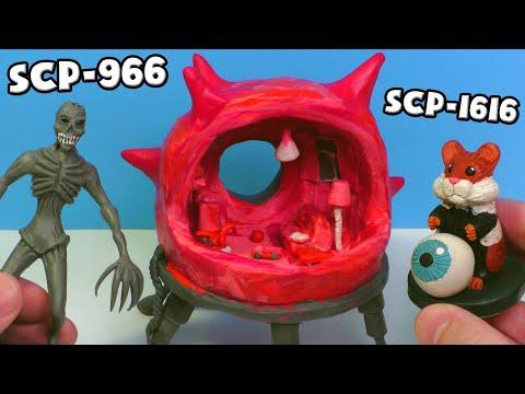 Бессоник SCP-966, Хом'як Грызлик SCP-1616 і меблі Живий Кімнати SCP-002 - Ліпимо з пластиліну