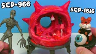 Бессоник SCP-966, Хомяк Грызлик SCP-1616 и мебель Живой Комнаты SCP-002 - Лепим  из пластилина
