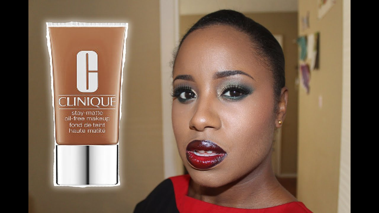 Clinique even better makeup foundation review swatches before - Clinique Stay Matte Oil Free Foundation Review Swatch And Demo Youtube