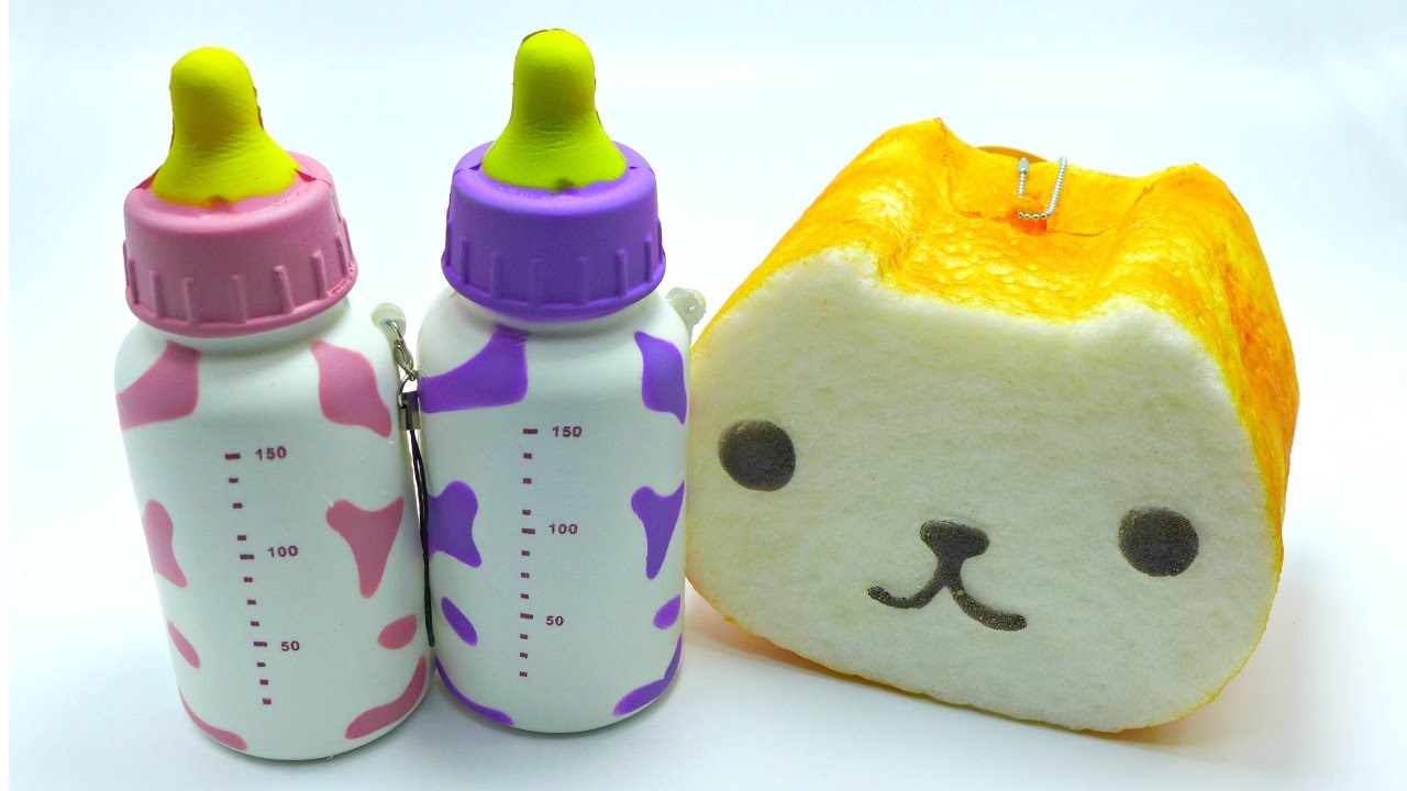 Squishy Bottles : Kapibarasan Toast & Milk Bottle Squishy - YouTube